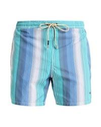 Shorts de baño de rayas verticales celestes de Hugo Boss