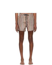 Shorts de baño de rayas verticales en multicolor de Paul Smith