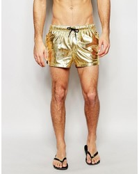 Shorts de baño dorados de Asos