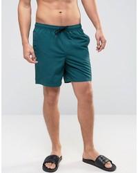 Shorts de baño en verde azulado de Asos