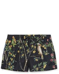 Shorts de baño estampados azul marino de Dolce & Gabbana
