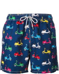 Shorts de baño estampados azul marino de MC2 Saint Barth