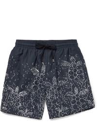 Shorts de baño estampados azul marino