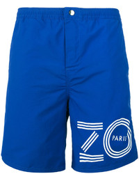 Shorts de baño estampados azules de Kenzo