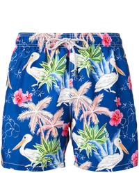 Shorts de baño estampados azules de MC2 Saint Barth