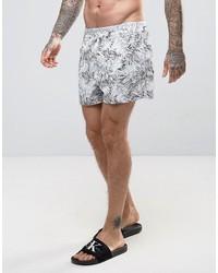 Shorts de baño estampados blancos de Calvin Klein