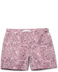 Shorts de baño estampados burdeos de Orlebar Brown
