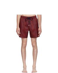 Shorts de baño estampados burdeos de Vilebrequin