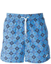 Shorts de baño estampados celestes de Canali