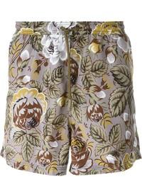 Shorts de baño estampados en gris oscuro de Etro