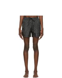 Shorts de baño estampados en gris oscuro de Salvatore Ferragamo