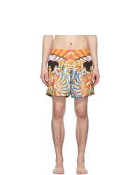 Shorts de baño estampados en multicolor de Amiri