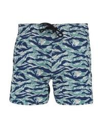 Shorts de baño estampados en multicolor de Pier One