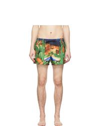 Shorts de baño estampados en multicolor de Versace Underwear