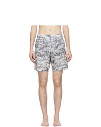 Shorts de baño estampados grises de Off-White