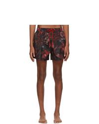 Shorts de baño estampados negros de Paul Smith
