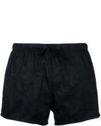 Shorts de baño Estampados Negros de Versace