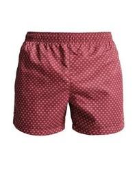 Shorts de baño Estampados Rojos de Hugo Boss