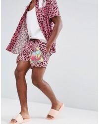 Shorts de baño estampados rosa de Asos