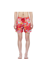 Shorts de baño estampados rosados de Vilebrequin