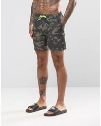 Shorts de baño estampados verde oliva de Asos