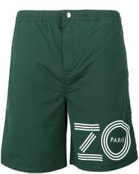 Shorts de baño estampados verdes de Kenzo