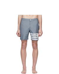 Shorts de baño grises de Thom Browne