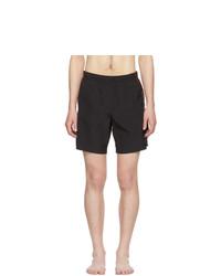 Shorts de baño negros de Alexander McQueen