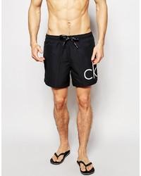 Shorts de baño negros de Calvin Klein