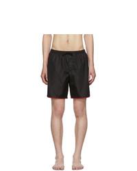 Shorts de baño negros de Gucci
