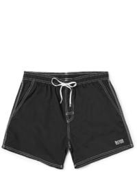 Shorts de baño negros de Hugo Boss