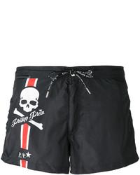 Shorts de baño negros de Philipp Plein