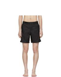 Shorts de baño negros de Prada