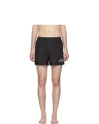 Shorts de baño negros de Valentino