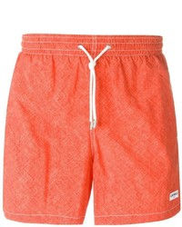 Shorts de baño rojos de Canali
