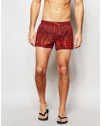 Shorts de baño rojos de Diesel