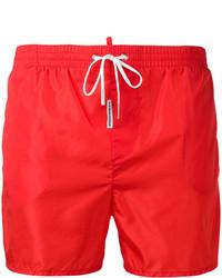Shorts de baño rojos de DSQUARED2