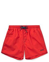 Shorts de baño rojos de Hugo Boss