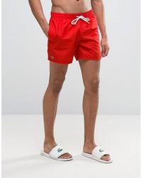 Shorts de baño rojos de Lacoste