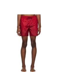 Shorts de baño rojos de Moncler