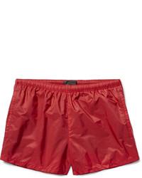 Shorts de baño rojos de Prada