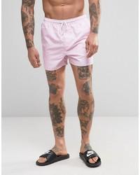Shorts de baño rosados de French Connection