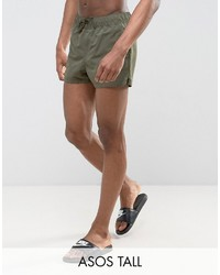 Shorts de baño verde oliva de Asos