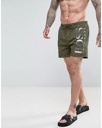Shorts de baño verde oliva de Hugo Boss