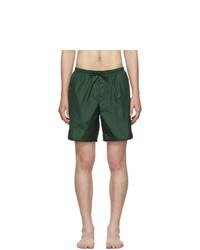 Shorts de baño verde oscuro de Gucci