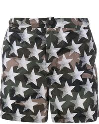 Shorts de baño verde oscuro de Valentino