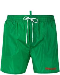 Shorts de baño verdes de DSQUARED2