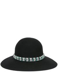 Sombrero con adornos negro de Lanvin