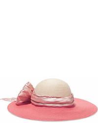 Sombrero con adornos rosado