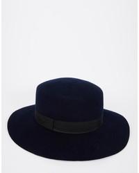 Sombrero de lana azul marino de Asos